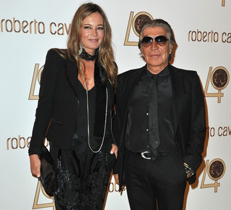 Family photo of the designer, married to Eva Maria Düringer, famous for Roberto Cavalli Home.
