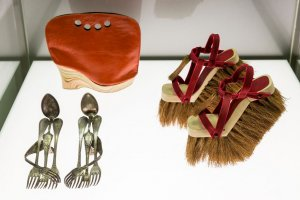 Cutlery by Lauren Johnstone; Shoebag by Astrid Jansen; Brooms by Sol Alonso